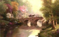 Hometown Bridge by Thomas Kinkade A/P Limited Edition 24 X 36
