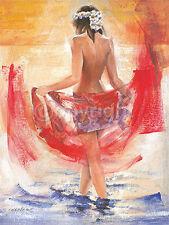 Talantbek Chekirov: Facing the sun Fertig-Bild 60x80 Wandbild Mädchen Erotik