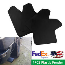 4PCS  Black Plastic Car Mud Flaps Universal Guard + 20PCS 6mm Fastener Rivet