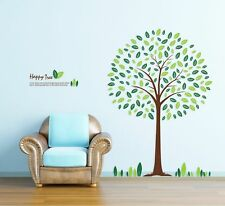 TOTOMO #W147 Happy Tree Wall Decals Removable Wall Decor Decorative Sticker