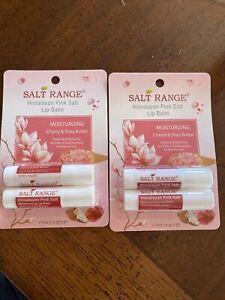 4 Salt Range Himalayan Pink Salt Moisturizing Lip Balm Cherry & Shea Butter