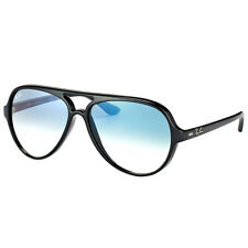 Ray-Ban Cats 5000 RB 4125 601/3F Black Plastic Sunglasses Blue Gradient Lens