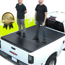 FOR 82-93 CHEVY S10/GMC S15 6FT SHORT BED HARD SOLID TRI-FOLD TONNEAU COVER KIT