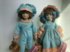 "Vintage Suzanne Gibson Nursery Rhyme Jack & Jill 16"" Dolls w/ Tags"