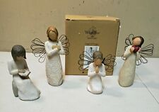 Willow Tree Angels - Lot Of 4 - Remembrance, Wisdom & Angels of Prayer & Heart
