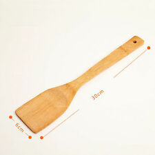 New Kitchen Bamboo Wooden Spoon Cooking Utensils Set Spatula Tools Turner