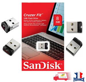 Clé USB SanDisk Cruzer Fit CZ33 8GB Mini Nano USB Flash Pen Drive Memory Stick