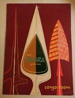 1958 Original Menu HOTEL SAHARA CONGO ROOM Restaurant Las Vegas Nevada