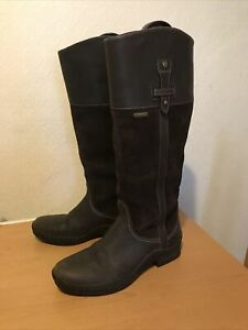 Ladiies Ariat Brown Leather And Suede Gore Tex Riding / Country Boots Size 7