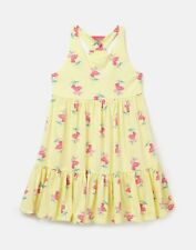 Joules Girls Juno Tiered Dress  - YELLOW STRIPE FLORAL
