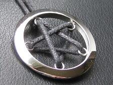 Pentagramm sehr schöne Variante + Band + Schmuckbeutel Anhänger etNox / ES 022