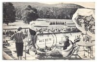1955 Aquabana at Outdoor Pool, Nevele Country Club, Ellenville, NY Postcard