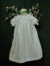 Hand-Crafted Primitive Angel Made From White Hobnail Bedspread