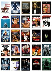 90'S/00's MOVIE COLLECTION COLLAGE WALL ART POSTER **IMAGES CAN BE CHANGED**