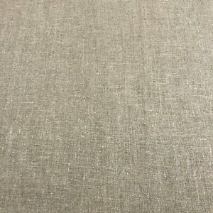 Lithuanian Rustic Beige 100% Linen | Textured Woven Natural Upholstery Fabric