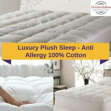 Ramesses Memory Resistant 1000GSM Luxury Mattress Topper Washable 100% Cotton