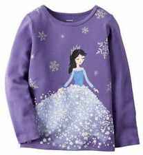 Carter's Baby Girl   NEW  Snow Princess Tee Shirt Purple Size 6M     NWT $14
