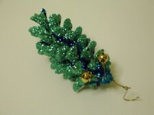 Handcrafted Natural Christmas Ornament - White Pine Cone Free Shipping