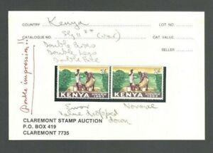 Kenya 1963 Error Stamp + Normal MNH