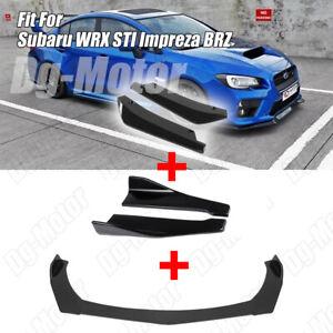 Front Rear Bumper Lip Splitter Spoiler Side Skirt Fit Subaru Impreza WRX STI BRZ