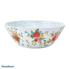 New listing Pioneer Woman Sweet Rose Salad Serving Bowl New 10� Diameter