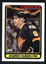 Andrew McBain #248 signed autograph auto 1990-91 Topps Hockey Trading Card