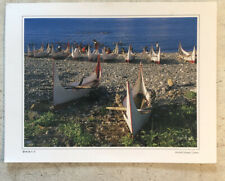 Large Tourist Postcard ~ Orchid Island Canoe Thailand Posted 2009 17x12cm
