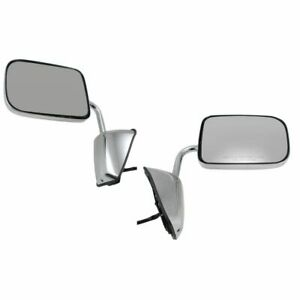 Side View Mirrors Chrome Folding Power Pair Set for 88-93 Dodge Pickup Truck