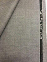 3.5 Metres Light Grey Super 140's 100% Lambswool Suit Fabric. Made In England.