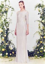JENNY PACKHAM Silk Embellished Beaded Crystal Jewel Open Back Dress Gown UK10 6