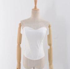 Womens Strapless Corset Boob Tube Top Body Shaper Tank Vest Tube Top Blouse