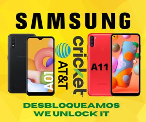 SAMSUNG A01 A11 A015A A01AZ A115AZ ATT CRICKET UNLOCK SERVICE EXPRESS