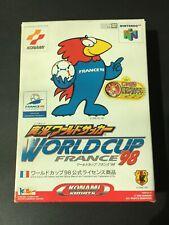 N64 実況 ワールドサッカー WORLD CUP FRANCE 98 Jikkyo World Soccer KONAMI NINTENDO 64 game