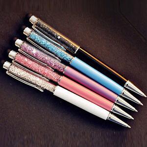 Fashion Glitter Spark Stylus Pen Crystal Bling Tablet Tab Write Ballpoint Pen