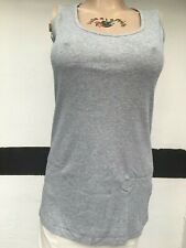 Sheego Damen Tank Top-Shirt grau-meliert Gr. 44 NEU