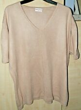 Ladies Short Sleeve V Neck Acrylic Jumper By Bonmarche XL