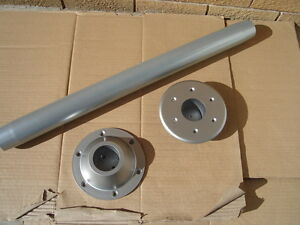 """RV pedestal 29 ½"""" TABLE LEG +ABS bases 1 surface & 1 recessed mount  SILVER pole"""