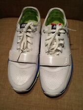 NIKE TRAINER ONE 88 WOMENS TENNIS SHOES SIZE 10 B WHITE,,BLUE,YELLOW 407867-111