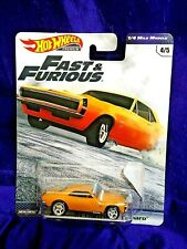 Hot Wheels Fast & Furious '67 Chevrolet Camaro 1/4 Mile Muscle #4/5 Real Riders