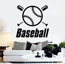 Vinyl Wall Decal Baseball Word Sports Boy Room Stickers Mural (432ig)