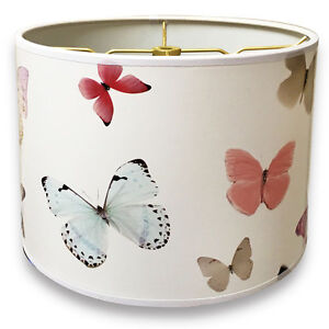 """10"""" Lampshade Colorful Butterfly Digital Print - Custom Made"""