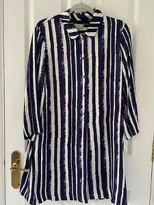 hobbs tunic dress size 14 - Blue And White