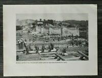 AQ) Blatt 2.WK 1940 Soldaten Pioniere Behelfs-Brücke Jagorz Polen Judaika WWII