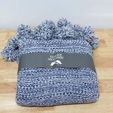 "NEW Sparrow & Wren Space Dye 100% Acrylic Throw Blanket 50"" x 70"" Blue H5089"