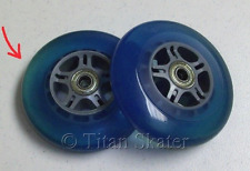 2 BLUE 100mm Wheels with ABEC-5 Bearings for Razor Kick Scooter DISCOLORED SALE!