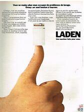 Publicité Advertising 1974 La Machine à laver Orsay de Laden