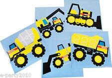 TONKA JUMBO STICKERS (5) ~ Construction Birthday Party Supplies Favors Trucks