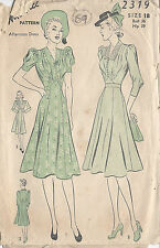 "1940s Vintage Sewing Pattern DRESS B36"" (69)"