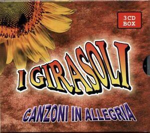 I GIRASOLI - CANZONI IN ALLEGRIA - 3 CD BOX NUOVO SIGILLATO LISCIO CUORE ALPINO