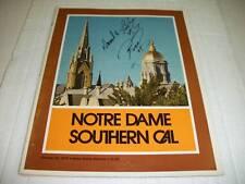 Notre Dame vs. S. California Program 10-25-1975 Signed